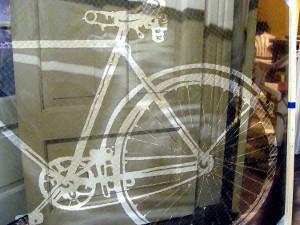 Esténcil de la bicicleta