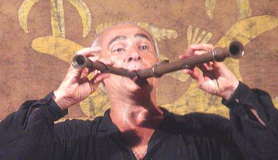 Foto de Rubén Pagura en su espectáculo.