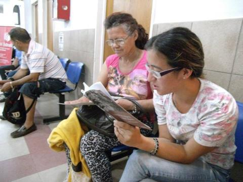 Lecturas compartidas en el Hospital carrasco